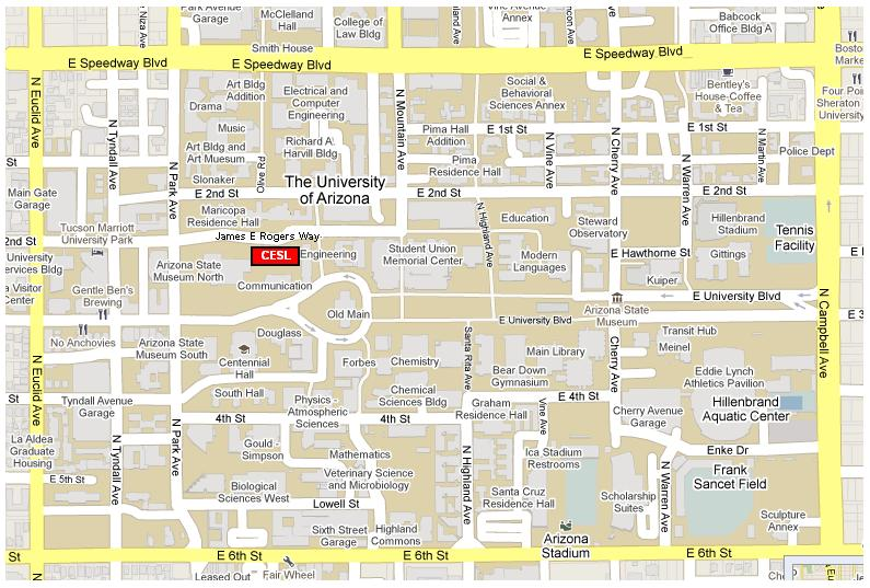 Map And Transportation The University Of Arizonas Center For - U of a campus map
